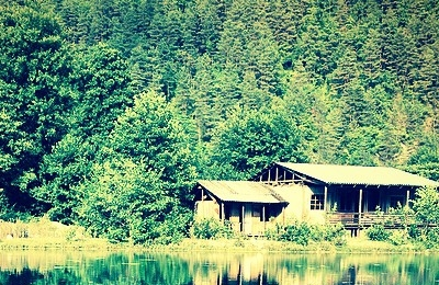 Home near lake
